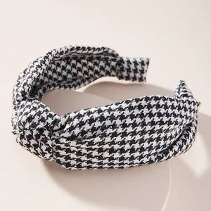 NWOT Anthropologie Houndstooth headband